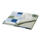 LEKANDE Bedspread, blue, green - 202.689.41