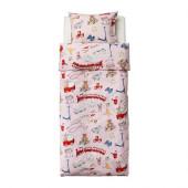 LEKRUM Duvet cover and pillowcase(s), pink - 402.645.84