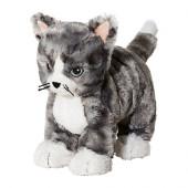 LILLEPLUTT Soft toy, cat gray, white - 602.604.53