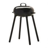 LILLÖN Charcoal grill, black - 002.333.11