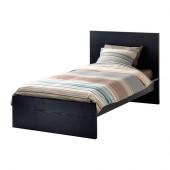 MALM Bed frame, high, black-brown, Luröy - 690.099.51