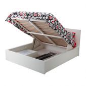 MALM Storage bed, white - 002.498.83
