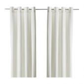 MERETE Curtains, 1 pair, bleached white - 900.468.43