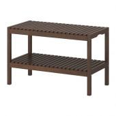 MOLGER Bench, dark brown - 602.414.50