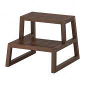 MOLGER Step stool, dark brown - 102.414.62