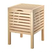 MOLGER Storage stool, birch - 702.414.59