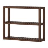 MOLGER Wall shelf, dark brown - 002.423.58
