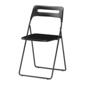 NISSE Folding chair, black - 301.150.66