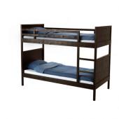 NORDDAL Bunk bed frame, black-brown - 502.690.29