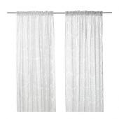 NORDIS Sheer curtains, 1 pair, white - 302.950.29