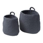 NORDRANA Basket, set of 2, gray - 102.882.99