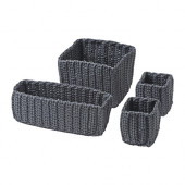 NORDRANA Basket, set of 4, gray - 102.883.03