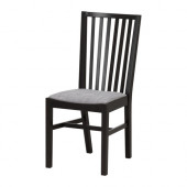 NORRNÄS Chair, black, Isunda gray - 101.774.99