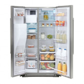 NUTID Side-by-side refrigerator, Stainless steel - 002.887.56