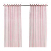 NYVAKEN Pair of curtains, pink - 202.646.03