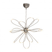 ONSJÖ LED chandelier, chrome plated - 402.112.65