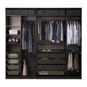 PAX Wardrobe, black-brown - 891.274.11