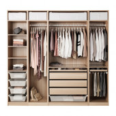 PAX Wardrobe, white stained oak effect - 291.112.10