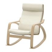 POÄNG Rocking chair, birch veneer, Robust Glose off-white - 098.610.14