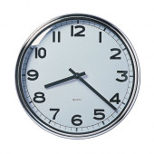 PUGG Wall clock, stainless steel chrome plated - 100.989.87