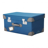 PYSSLINGAR Trunk for toys, blue - 902.252.98