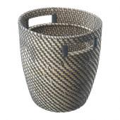 RÅGKORN Plant pot, rattan - 002.134.88