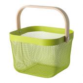 RISATORP Wire basket, green - 502.816.20