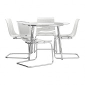 SALMI / TOBIAS Table and 4 chairs, glass, clear - 398.857.25