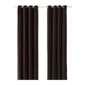 SANELA Curtains, 1 pair, dark brown brown - 302.301.89