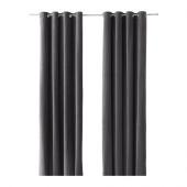 SANELA Curtains, 1 pair, gray - 802.301.96
