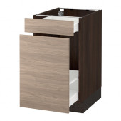 SEKTION Base cabinet for recycling, brown Maximera, Brokhult walnut - 290.405.24
