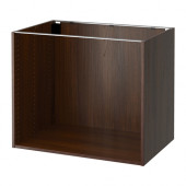 SEKTION Base cabinet frame, wood effect brown - 902.654.11