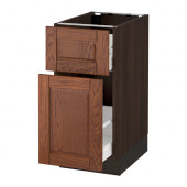 SEKTION Base cabinet/p-out storage/drawer, brown Maximera, Filipstad brown - 390.354.85