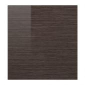 SELSVIKEN Door, patterned high gloss brown - 702.963.43