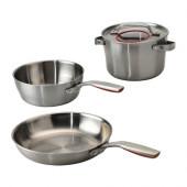 SENSUELL 4-piece cookware set, stainless steel - 102.568.68