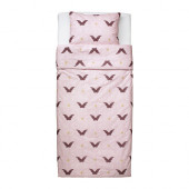 SILKIG Duvet cover and pillowcase(s), butterfly light pink - 402.365.53