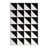 SILLERUP Rug, low pile, black/white - 302.878.21