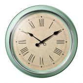 SKOVEL Wall clock, green - 502.376.51