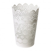 SKURAR Lantern for block candle, white - 402.360.44