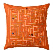 SLINGRIG Cushion, white, orange - 802.896.05