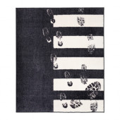 SNABBFOTAD Rug, low pile, gray - 902.726.66