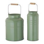 SOCKER Vase, set of 2, green indoor/outdoor green - 802.911.61