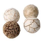 SOMLIG Decoration, ball, natural - 102.587.92