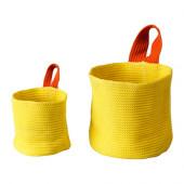 STICKAT Basket, set of 2, yellow, orange - 902.965.87