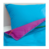 STICKAT Duvet cover and pillowcase(s), turquoise, lilac - 202.962.51