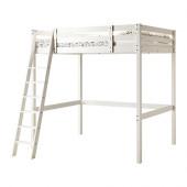 STORÅ Loft bed frame, white stain - 102.420.89