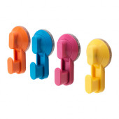 STUGVIK Hook with suction cup, assorted colors $14.99 - 602.881.93