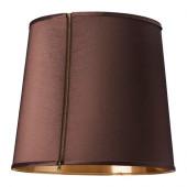 SUNNEMO Lamp shade, dark brown, gold - 502.950.47