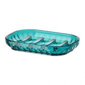 SVARTSJÖN Soap dish, turquoise - 002.643.88