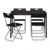 TÄRENDÖ / GUNDE Table and 4 chairs, black - 890.106.99